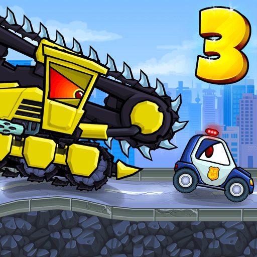 تحميل لعبة Car Eats Car 3 مهكرة للاندرويد