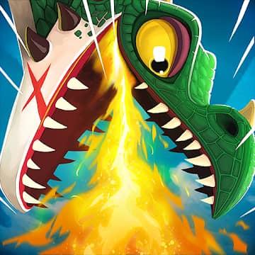 تحميل لعبة Hungry Dragon مهكرة للاندرويد